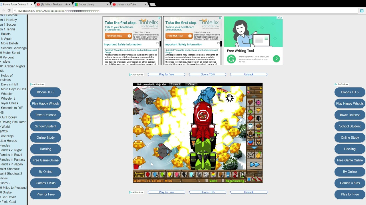 bloons td 5 unblocked games