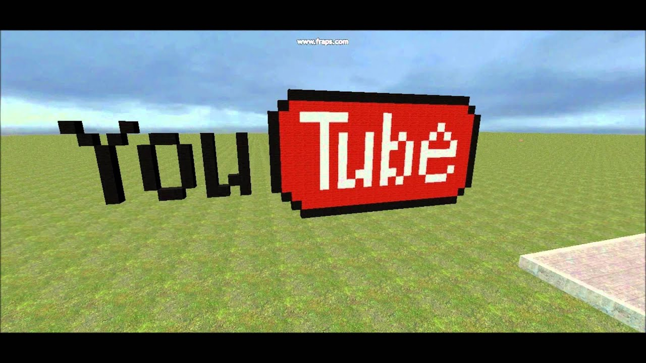 Exceptionnel Minecraft Pixel Art in Gmod 6 - Youtube Logo - YouTube LV59