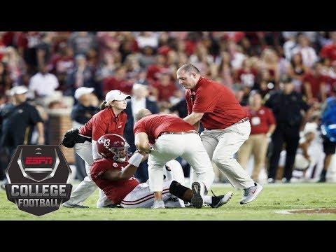 Tua Tagovailoa exits with injury, Alabama still tops Missouri 39-10   College Football Highlights