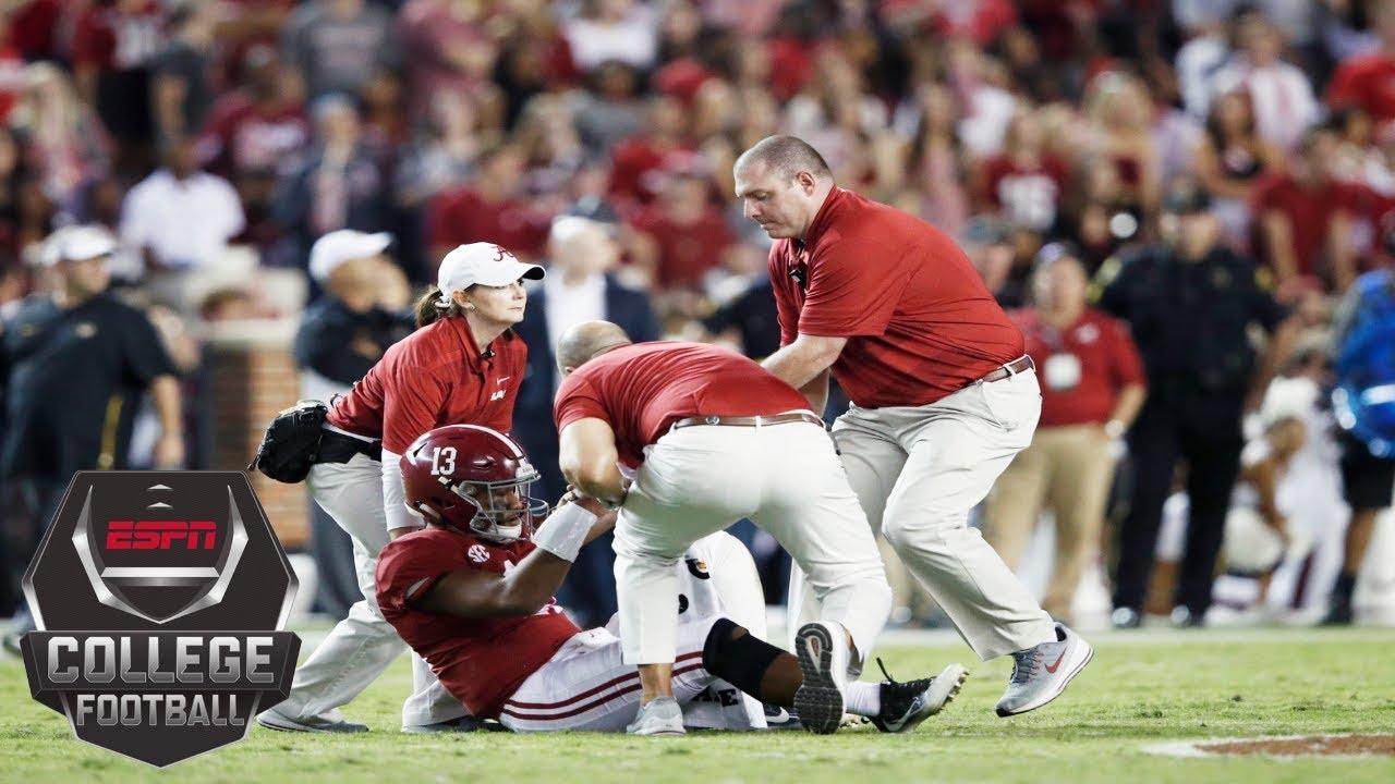 Tua Tagovailoa Exits With Injury Alabama Still Tops Missouri 39 10