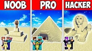 Minecraft NOOB vs PRO vs HACKER : FAMILY BLOCK SAND BASE in Minecraft | Animation