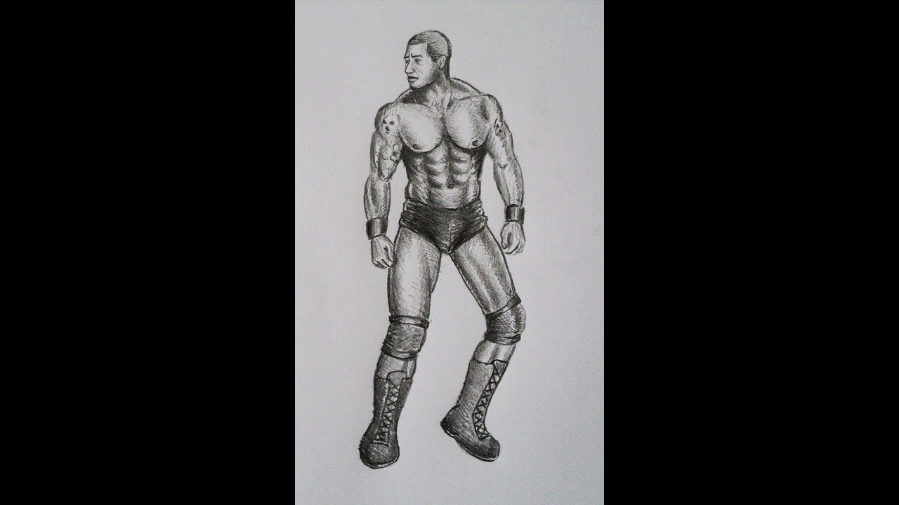 Uncategorized Wwe Drawing Pictures how to draw wwe randy orton youtube