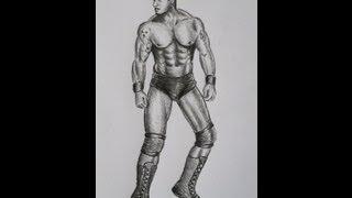How to draw: WWE - Randy Orton