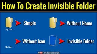 How to Create Invisible Folder | Amazing Computer Tricks