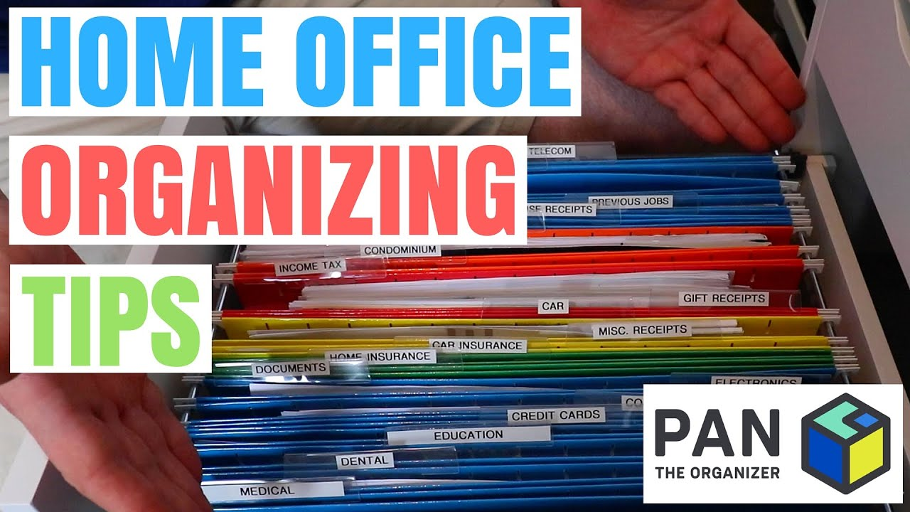 HOW TO ORGANIZE YOUR HOME OFFICE !!! - YouTube