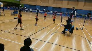 Publication Date: 2018-03-31 | Video Title: 2018中銀學界 marco 陳奕希  雙打羽毛球 vs 基
