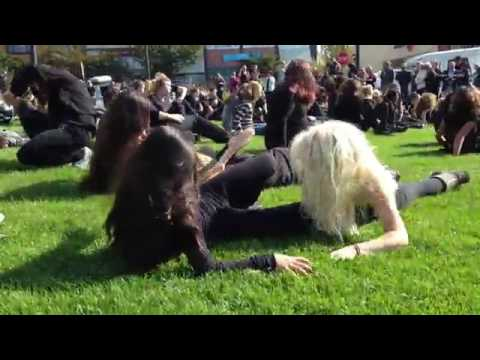 Sunny Brae Middle School students perform the music video zombie dance from Michael Jackson's hit 19