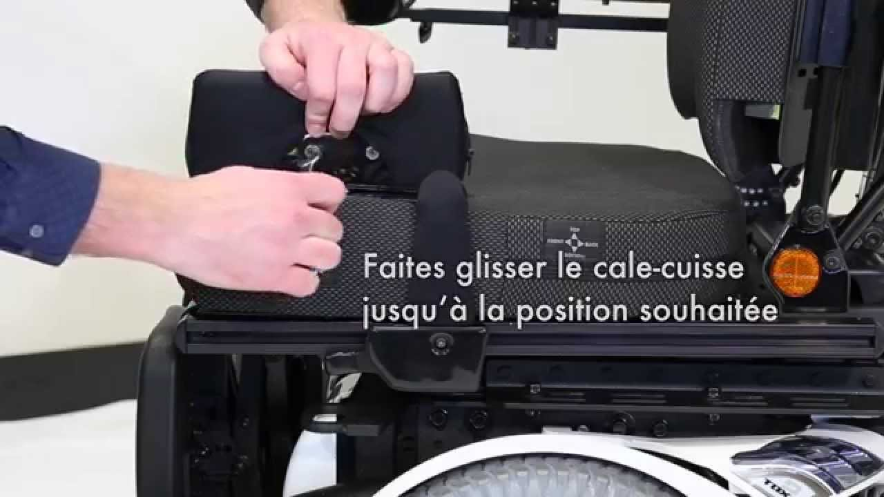 Invacare Ultra Low Maxx Installation Réglage Des Cale Cuisses Youtube