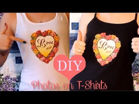 DIY  Washable  ♥ How To Print Your Own T-Shirts At Home! - YouTube 154eda9a9
