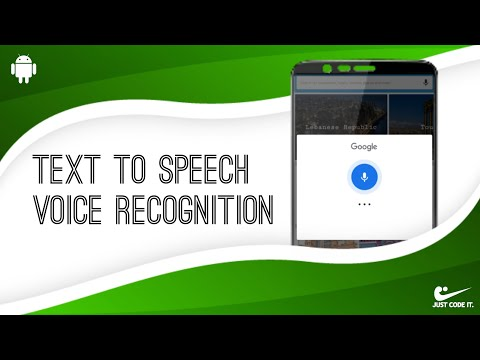 How To Make A Text To Speech Application Android Studio Youtube