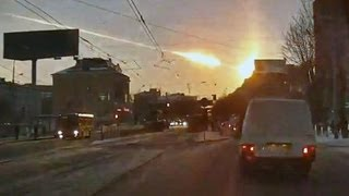 INCREDIBLE - Russian Meteor - Asteroid HITS Earth! 15.02.2013