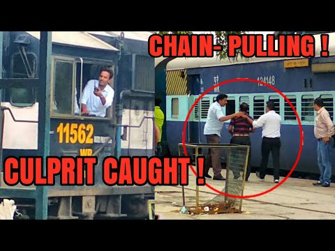 CHAIN PULLING   CULPRIT CAUGHT   SAHIBABAD   INDORE AMRITSAR EXPRESS   TRIPLE HONK AND MORE