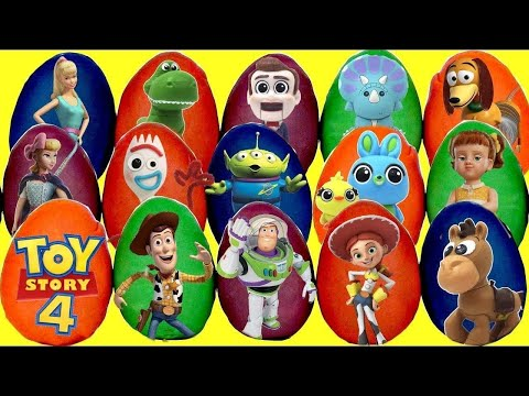 Opening 15 TOY STORY 4 Play-Doh Surprise Toy Eggs