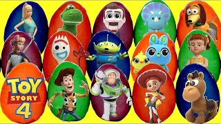 15 TOY STORY 4 Play-Doh Surprise Toy Eggs with Buzz Lightyear, Sheriff Woody, Forky