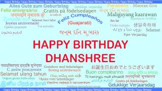 Dhanshree   Languages Idiomas - Happy Birthday