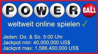 US PowerBall Lotto in Deutschland spielen (Amerikanische Lotterie Online Gewinnen)