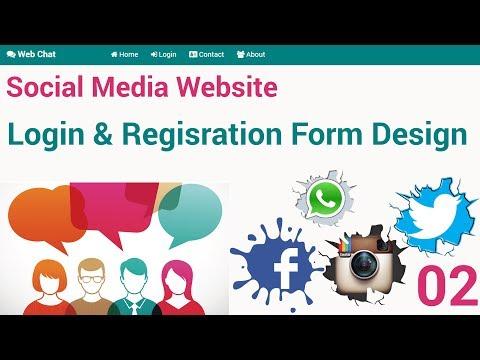 Social Media Website : Login And Registration Form Design
