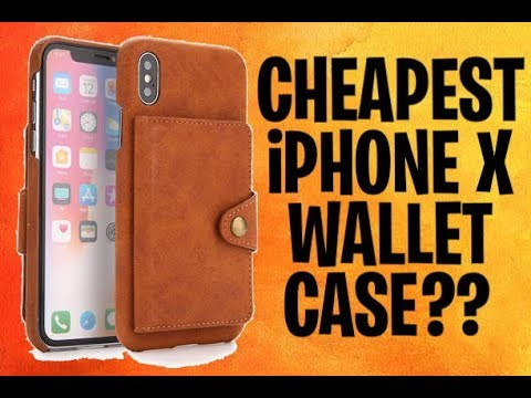 Smooth iPhone X Leather Wallet Case! Is it Worth it !?