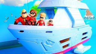 #Суперсемейка 2 INCREDIBLES 2 Ограбление Банка! Видео для детей! Мультик с My Toys Potap