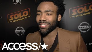 'Solo': Donald Glover Excited To Not Have To Keep Spoilers Soon; Talks 'SNL' Cameo | Access thumbnail