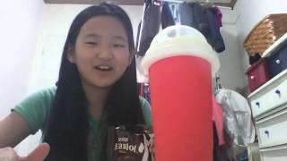 슬러시 만들어  먹기@먹방^~~~~~^