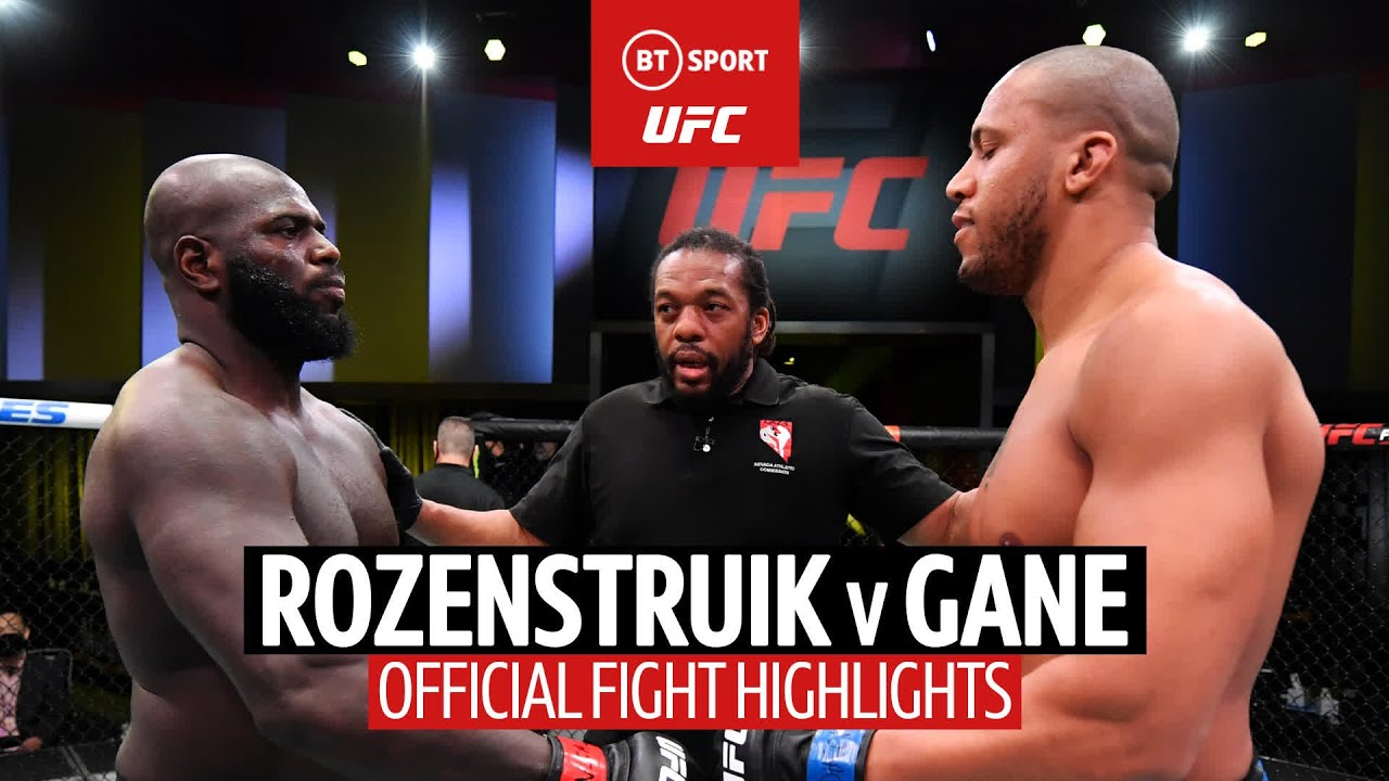 Gane stays perfect! Jairzinho Rozenstruik v Ciryl Gane UFC Fight Highlights