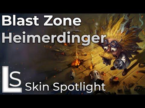 Blast Zone Heimerdinger - Skin Spotlight - Road Warrior - League of Legends - Patch 10.8.1