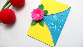 Beautiful Handmade Happy New Year 2020 card ideas|How to make new year greeting card| #newyear2020