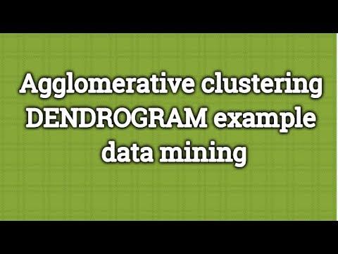 Agglomerative Clustering Dendrogram Example Data Mining