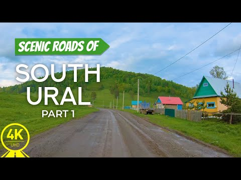 4K Scenic Drive Video for Indoor Cycling and Treadmill Exercise - Roads of South Ural - Part #1