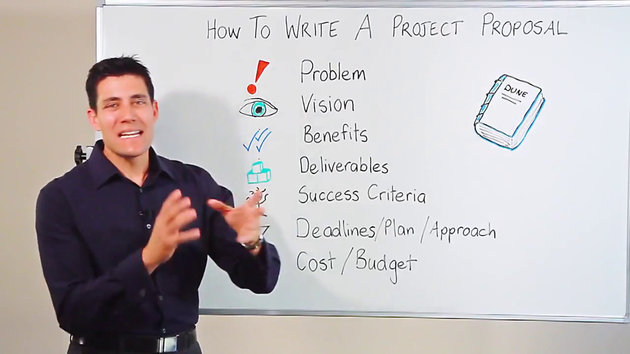 how to write a project plan template - how to write a project management proposal youtube