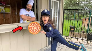 Police Deema with Pizza Delivery Adventure story for kids