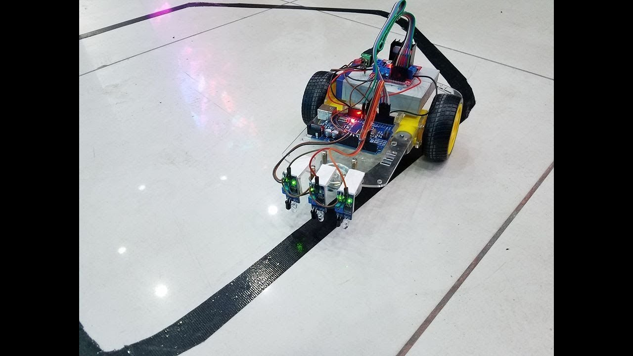 Line Follower Robot using Arduino UNO, IR sensor and L298 motor driver