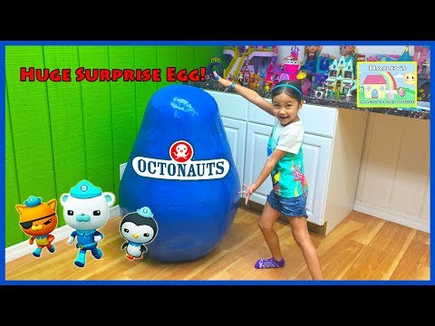 Thumbnail: World's Biggest OCTONAUTS SURPRISE EGG TOYS OPENING Huge Surprise Eggs Disney Junior Toy Cars Review