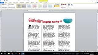 Tập 25 WORD Đề 5 Tô màu cho Drop Cap, TAB trong table   Chứng chỉ ứng dụng CNTT cơ bản