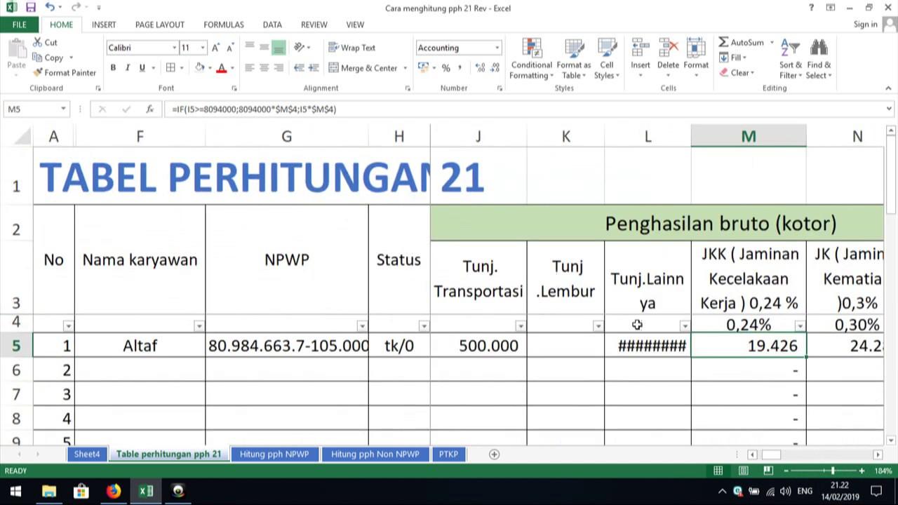 CARA MENGHITUNG PPH 21 KARYAWAN - YouTube
