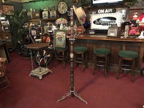 1891 UDell Works Hall Tree Coat Rack For Sale $2,495