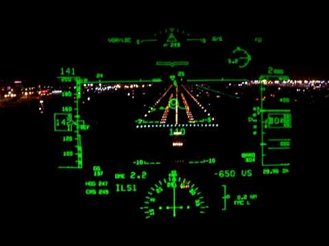 Night Landing at LAX in a Boeing 737NG