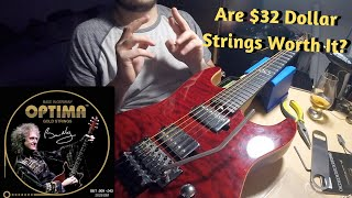 Are $32 Dollar Strings Worth It? Brian May Optima String Demo/Review