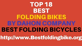 Top 18 Best Folding Bikes By Dahon - Best Folding Bicycles