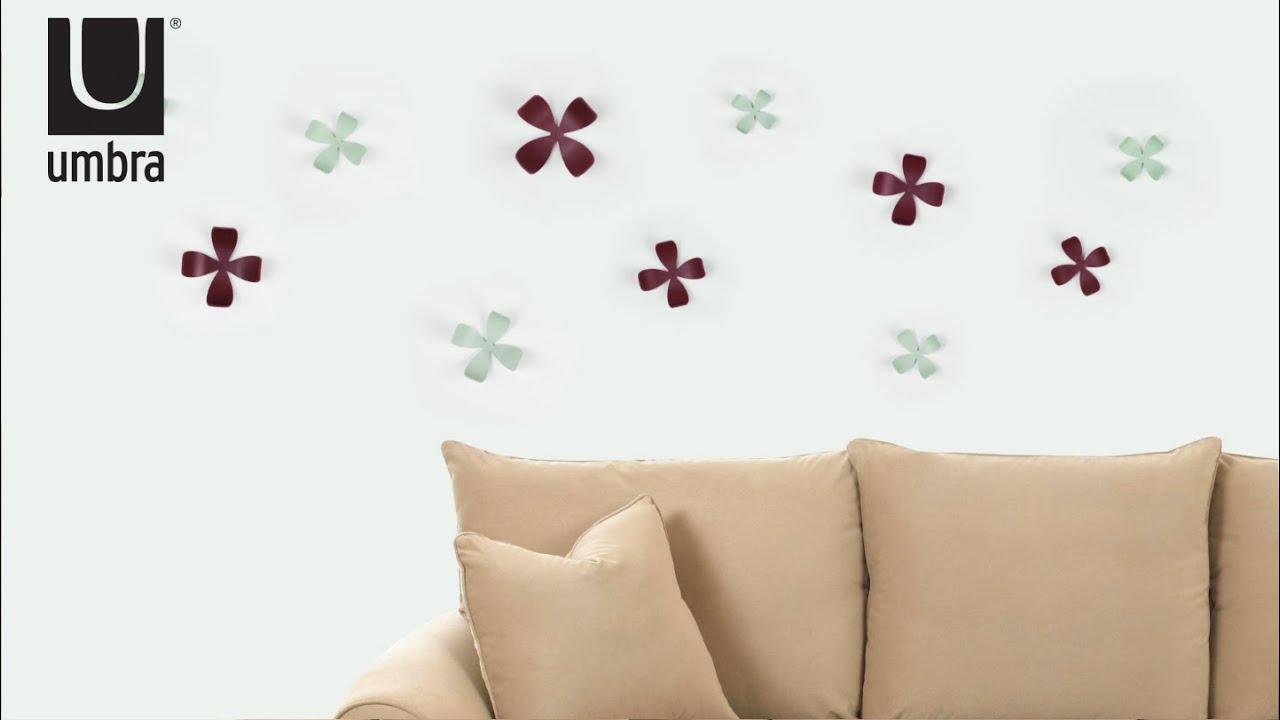 umbra wallflower wall decor  youtube - umbra wallflower wall decor