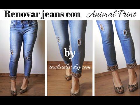 Como decorar unos jeans rotos
