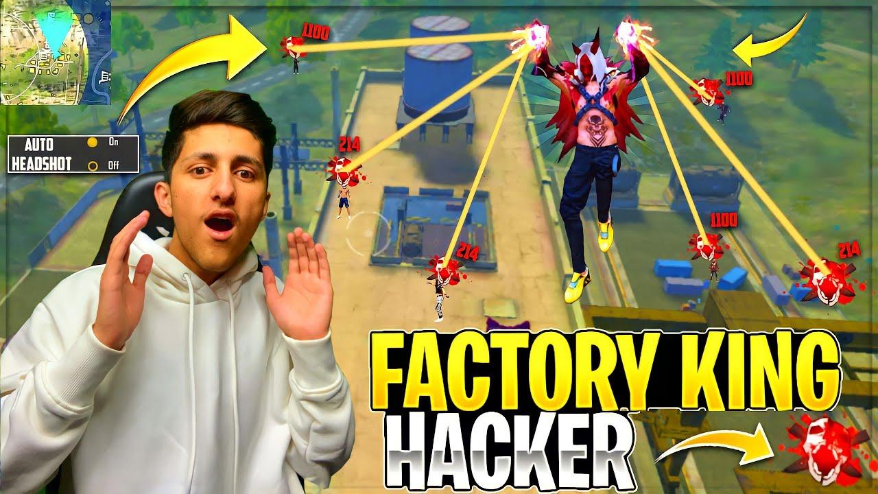 Factory King Hacker? I Meet Hacker On Factory Roof | Diamond Hacker. Wall Hacker- Garena Free Fire