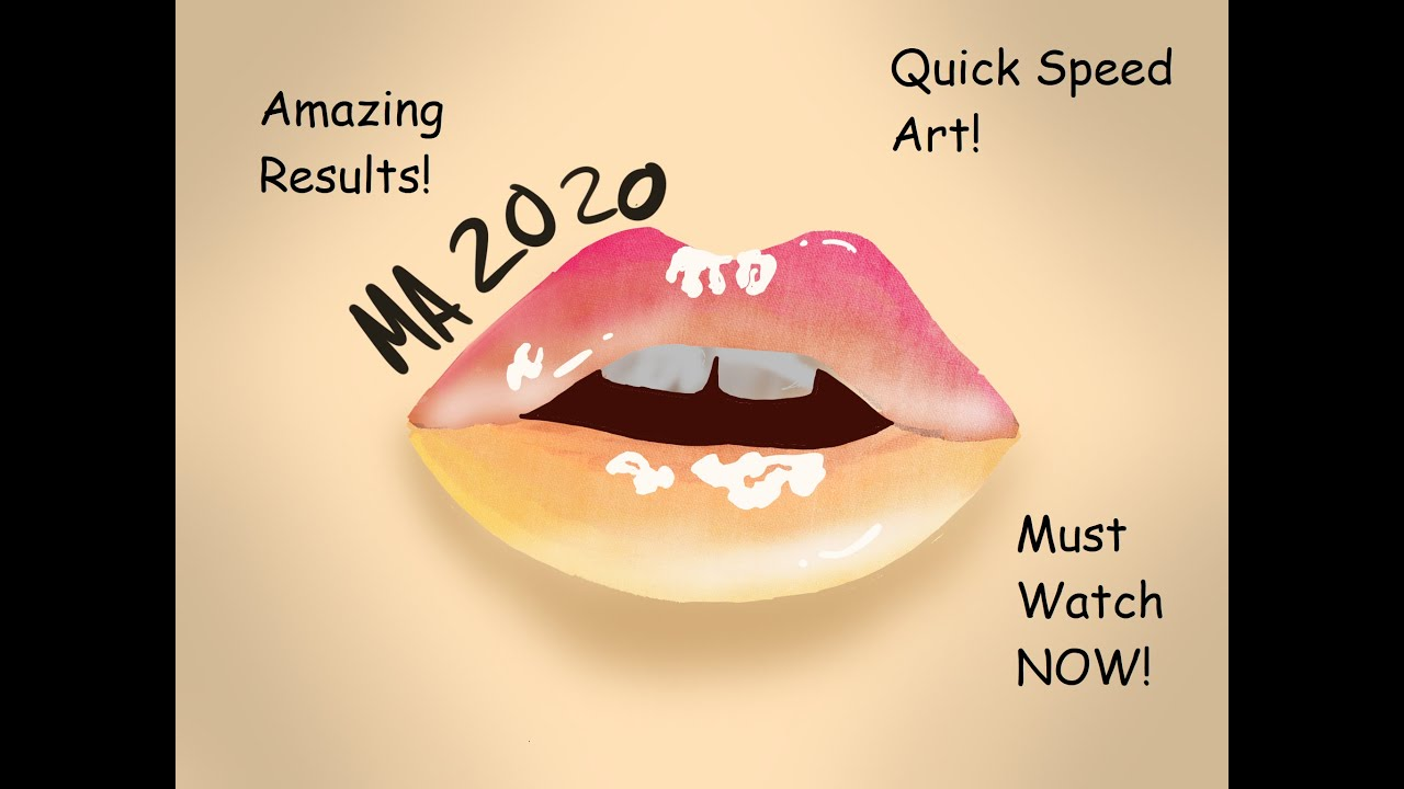 Colourful Realism Lip Art Quick Speed Art Digital Reference Youtube