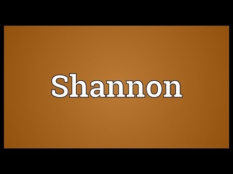 Shannon Meaning