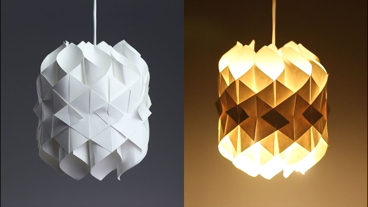 DIY Cool Paper Lamp YouTube