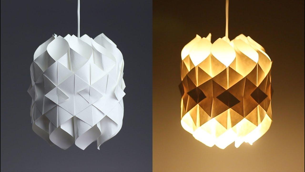 DIY Cool Paper Lamp - YouTube