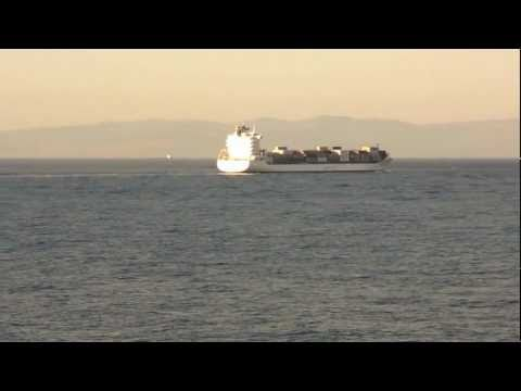 safmarine container ship transiting the straits of gibraltar june 09