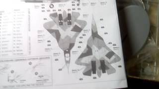 Огляд моделі літака су-50 (т-50) пак фа в масштабі 1/72 від компанії зірка