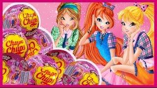 Клуб Винкс от Чупа-чупс. Открываем шоколадные шары Chupa-Chups. Winx Club. Unboxing Chocolate Eggs